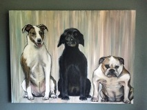 """Best Friends. 24"""" x 18"""". Commissioned painting."""